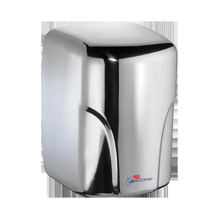 10-0197-2-92 ASI JD MacDonald Turbo-Dri Hand Dryer Polished Stainless Steel