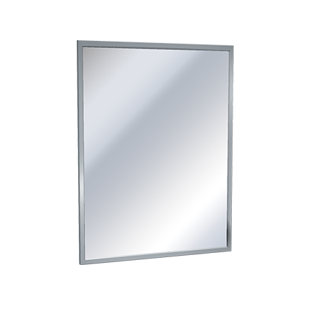 MIRROR, STAINLESS STEEL CHANNEL FRAME, VINYL BACKED - PLATE