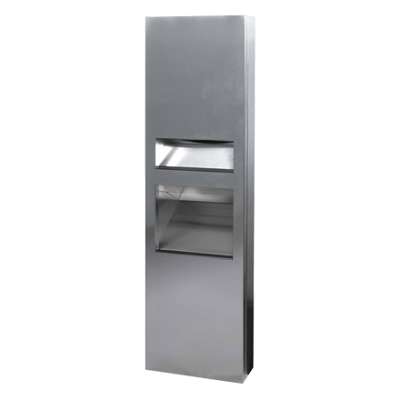 10-64671-A ASI JD MacDonald Select 2in1 Paper Towel Dispenser and Waste Bin