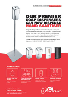 ASI Hand Sanitiser Dispensers and Stand Sell Sheet