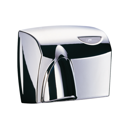 HDABPSSPC AUTOBEAM Automatic Hand Dryer - Polished Stainless Steel with Polished Chrome Nozzle