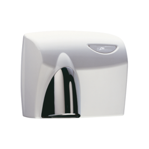 HDABWHTPC AUTOBEAM Automatic Hand Dryer - White with Polished Chrome Nozzle